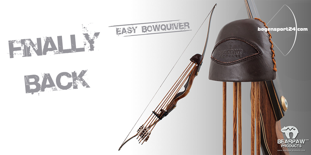 Finally back and available now - the bow quiver easy in black and brown