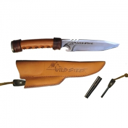 Wildsteer Archery Knive Gold Brushed Stainless Steel